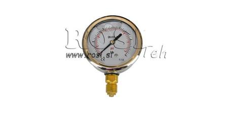 MANOMETER DN63 VERTICAL 0 - 400 BAR - 1/4
